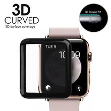 ALLOYSEED 38 42mm 3D Curved Soft Edges Tempered Glass Film For Apple Watch Smartwatch Anti Scratch