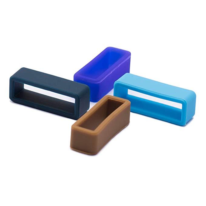 4pcs Silicone Watch Strap Loop Replacement Watch Band Retaining Loop Hoop Rubber Retainer Holder Keeper Waterproof 18 20 22 24mm