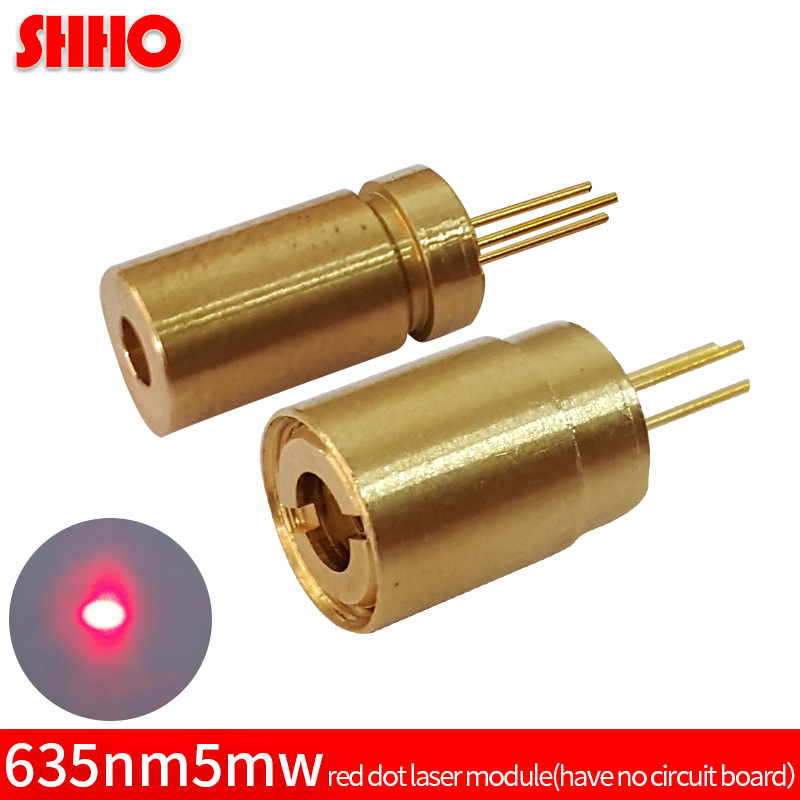 High quality brass 635nm 5mw red dot laser module red laser focus locator red point size 6*12mm optical accessories laser sight