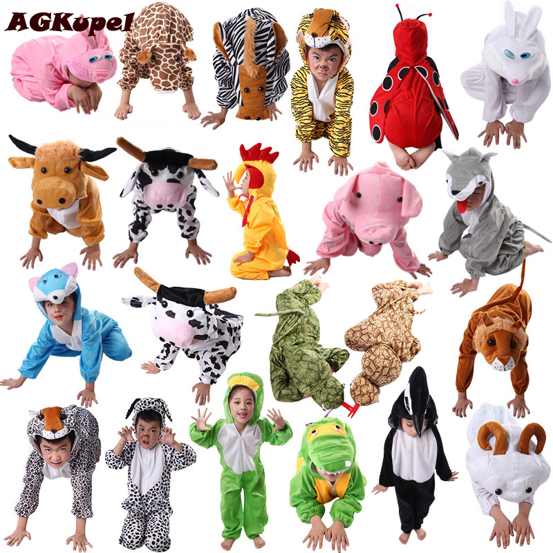 AGKupel Animal Disfraces Cosplay Sets Halloween Costumes For Kids Children's Christmas Clothing Boys Girls Clothes 2T-9Y girls boys halloween costumes surgeon sets doctor cosplay stage wear clothing children kids party clothes free drop shipping new