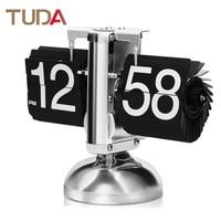TUDA European Automatic Flip Clock Retro Living Room Simple Home Decoration Decorative Clock