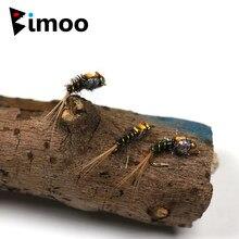 Bimoo 10 adet #16 pirinç boncuk kafa perisi uçar Buggy alabalık Fly cazibesi
