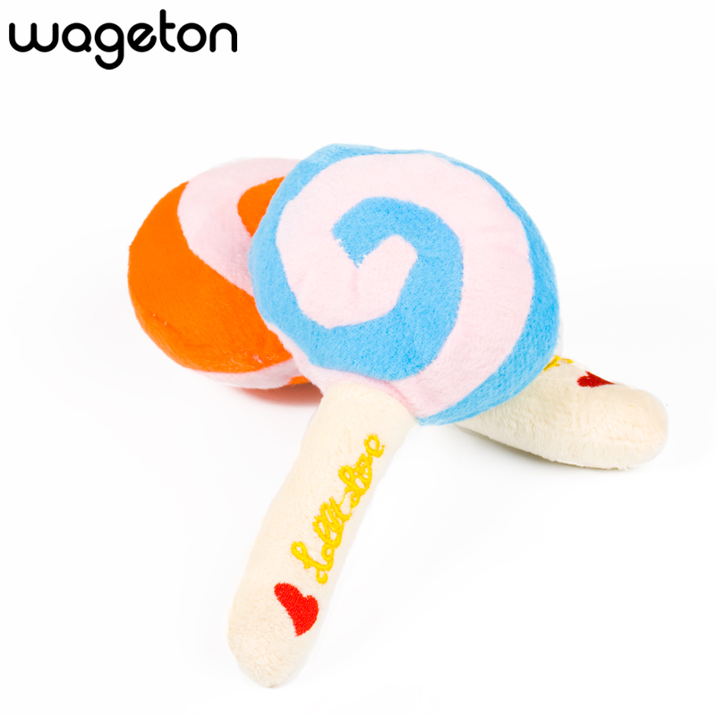 Lovely Cotton Lollipop Shape Pet Toys Dog And Cat Animal Squeaky Squeaker Sound Chews Toy