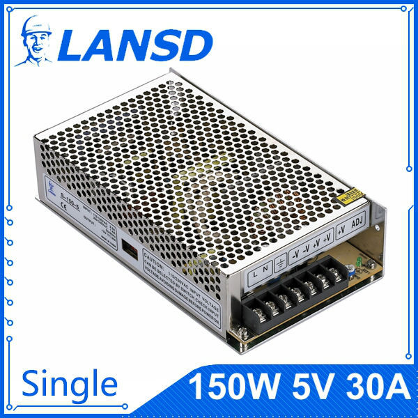 100% Guarantee, 5V 30Aswitching power supply, retail and wholesale,S-150-5