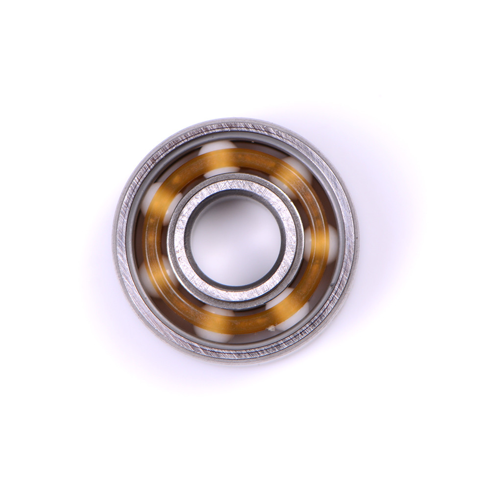 Ceramic Alloy Inline Speed Black 608 Ball Bearing For Finger Spinner Wear Resistant Skateboard Bearings Hot 1pc image