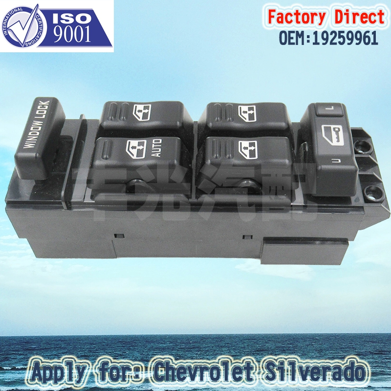 Factory Direct Auto Master Driver power Window Switch 15062650 apply for Chevrolet Silverado Sierra 1500 2500 3500 2000-2002