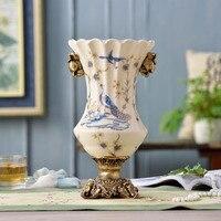 Ceramic vase ornaments European style home furnishing decorations living room restaurants antique crafts