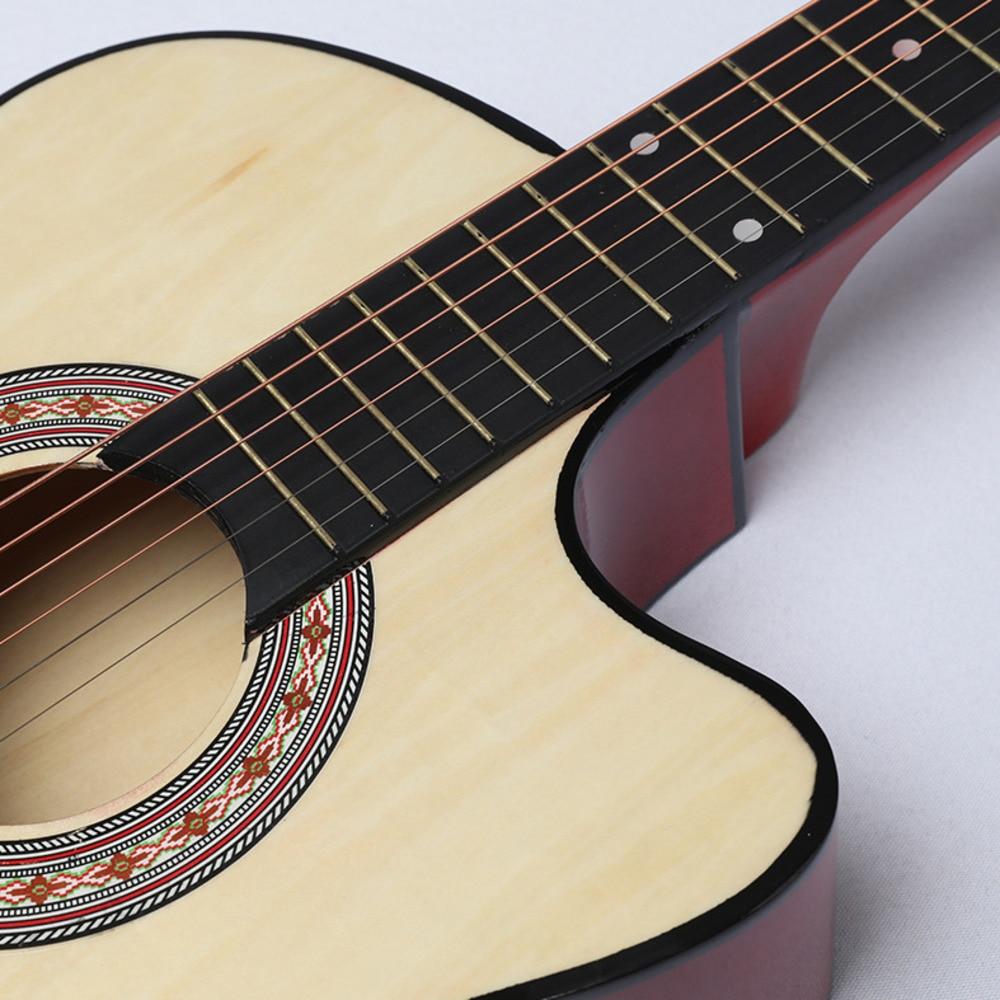38 tums saknad vinkel ballad trägitarr nybörjare övning musik - Skola och pedagogiska förnödenheter - Foto 3