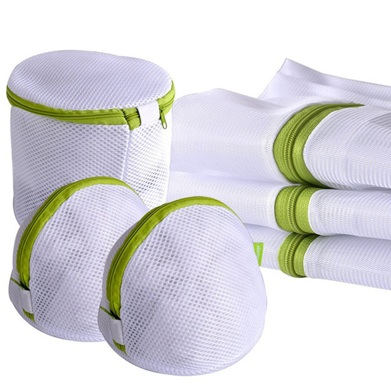 6Pcs/sets Zippered Mesh Laundry Wash Bags Foldable Delicates Lingerie Bra Socks Underwear Washing Machine Clothes Protection Net(China)