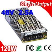 S 120 48 120W Mean well LED Switching Power Supply 48V 2.5A Transformer from 110V 220V AC to DC Output