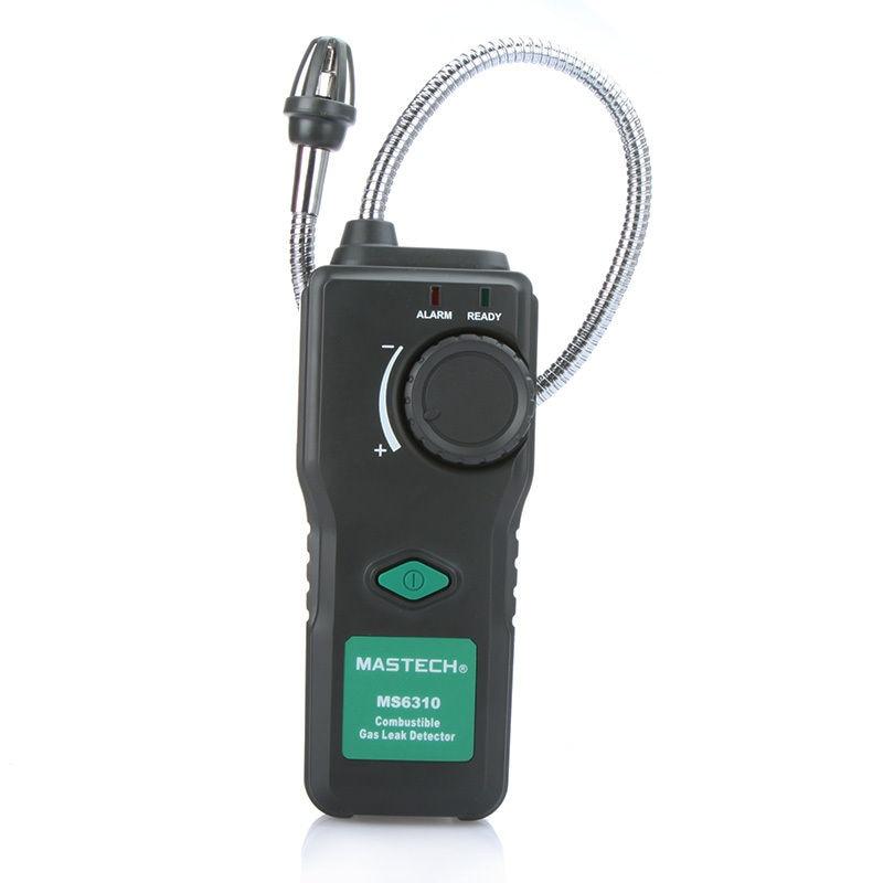 MASTECH MS6310 Combustible Flammable Gas Leak Detector Tester 10%-40% Sound Light Alarm uyigao ua9800b brand new handheld portable automotive mini combustible gas detector gas leak location determine tester