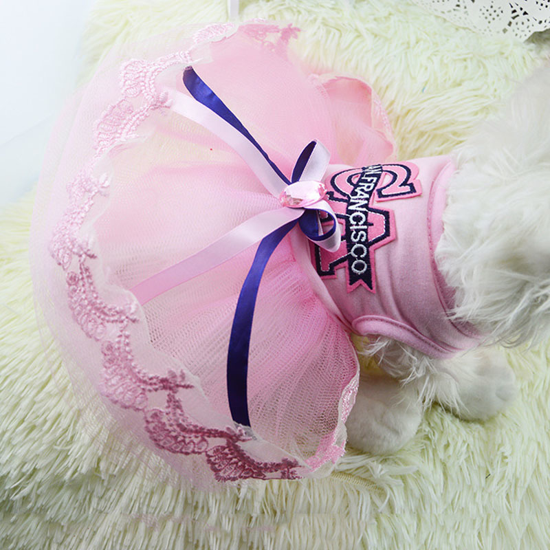 CA Wedding Dog Dresses For Small Dogs Chihuahua Summer ...