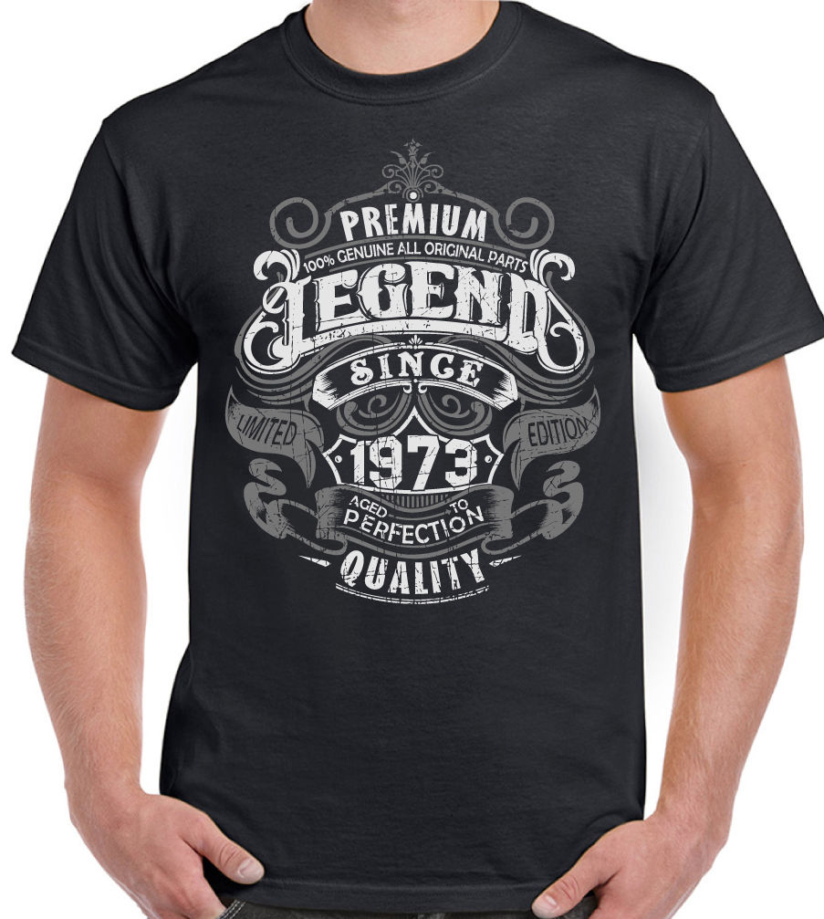 2019 Summer New Brand Men Men Casual Fitness Premium Legend Since 1973 43rd Birthday Mens Funny T-Shirt 43 Year Old Top T-Shirt