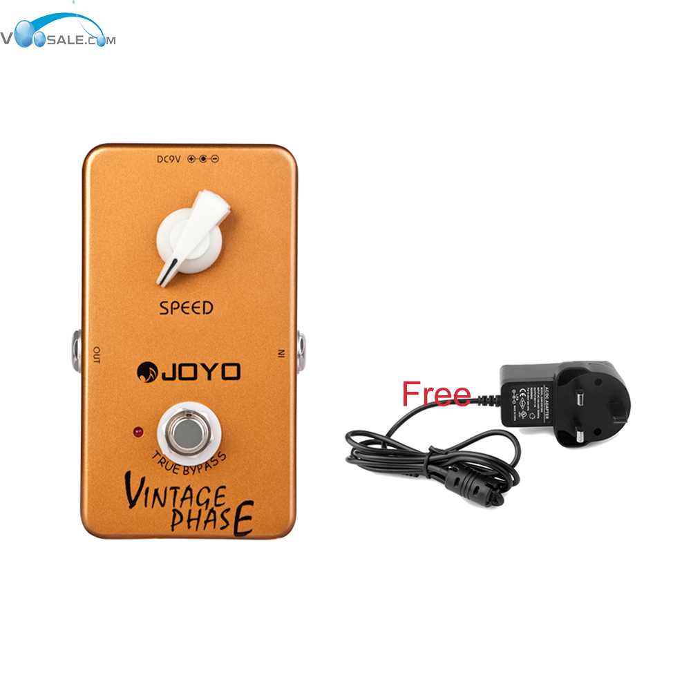 JOYO JF-06 Vintage Phase Effects Guitar Pedal Van Halen Wide Space Effect True Bypass Guitar Parts+Free US/AU/EU/UK Plug Adapter aroma adr 3 dumbler amp simulator guitar effect pedal mini single pedals with true bypass aluminium alloy guitar accessories