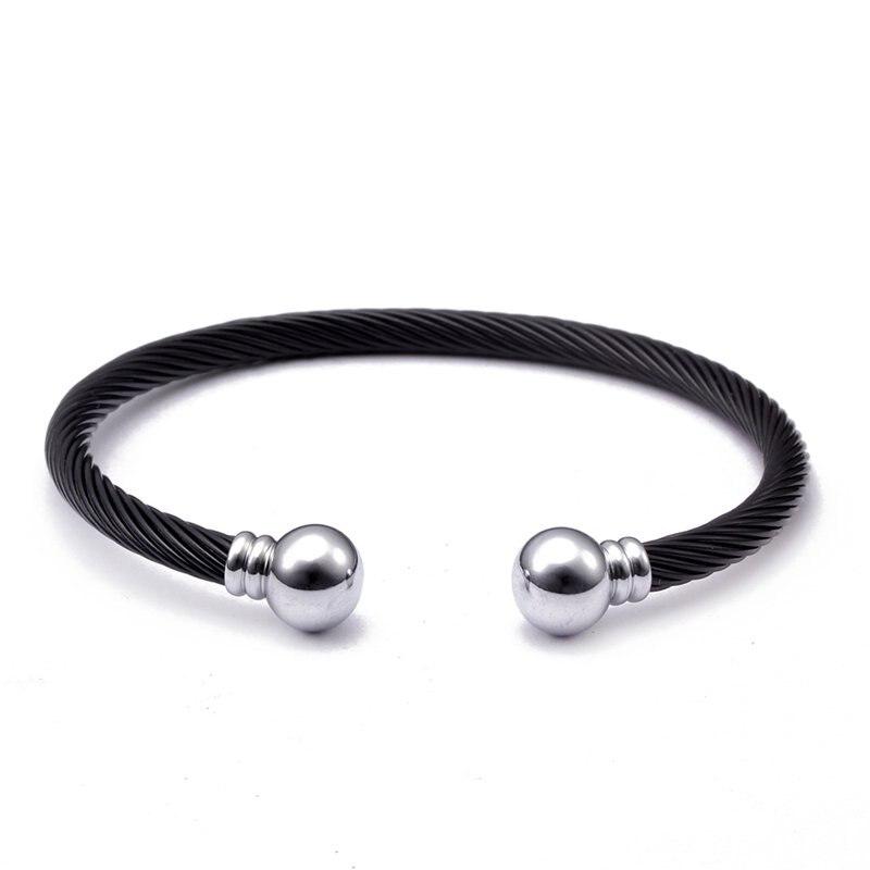 New Fashion Healthy Stainless Steel Open Men Women Cuff Bangles Vintage Mesh Surface Male Charm Sporty Bracelets