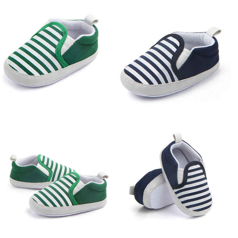 6bec85f34f96a Infant Newborn Baby Boys Girls Soft Sole Canvas Pram Shoes Trainers  Prewalker
