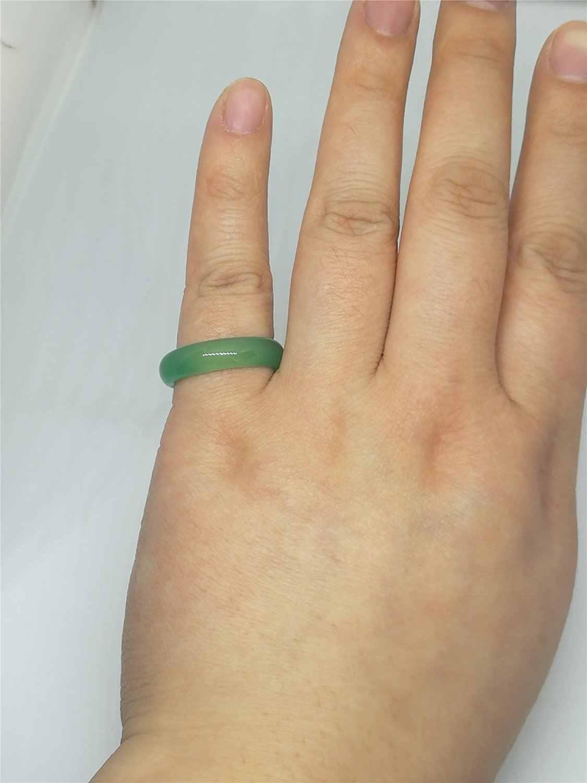3ชิ้นโมราธรรมชาติสีเขียวหยกพลอยวงแหวน