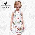 Monzón Niñas Vestidos del Verano del Bebé Ropa de Las Muchachas Niños Vestidos de Limón Imprimir Princess Party Girl Dress Niños Del Algodón se Visten 13