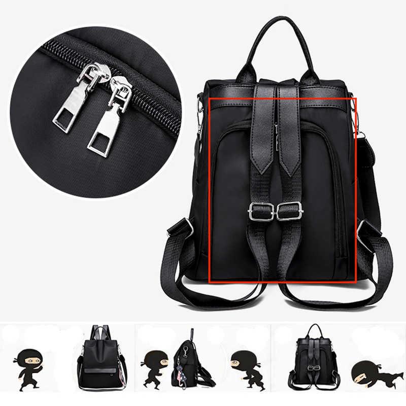 Модный женский рюкзак для колледжа, Женский нейлоновый Противоугонный Водонепроницаемый женский рюкзак, многофункциональные плечевые рюкзаки для женщин 2018