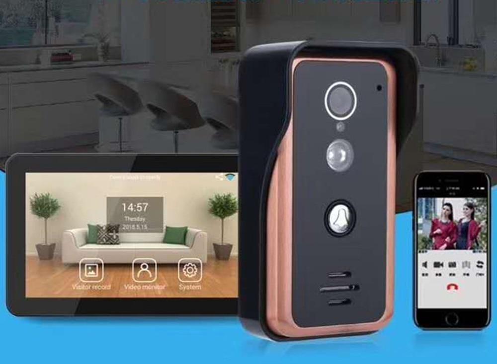 9 Inch Wireless WIFI IP Video Doorbell Intercom Door Phone APP Remote Control