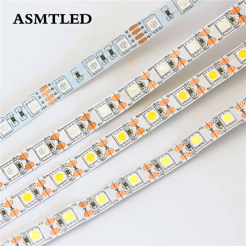 DC 5V LED Strip 5050 SMD 5M 60LEDs/M LED Flexible light White / Warm white / Red / Green / Blue / Yellow / RGB LED Tape Lamp 72w 3600lm 6500k 300 5050 smd led white light lamp strip w rf dimmer black white yellow 5m