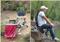 Ultraleve Taiwan novo artes de pesca portátil dobrável cadeira de pesca multifuncional