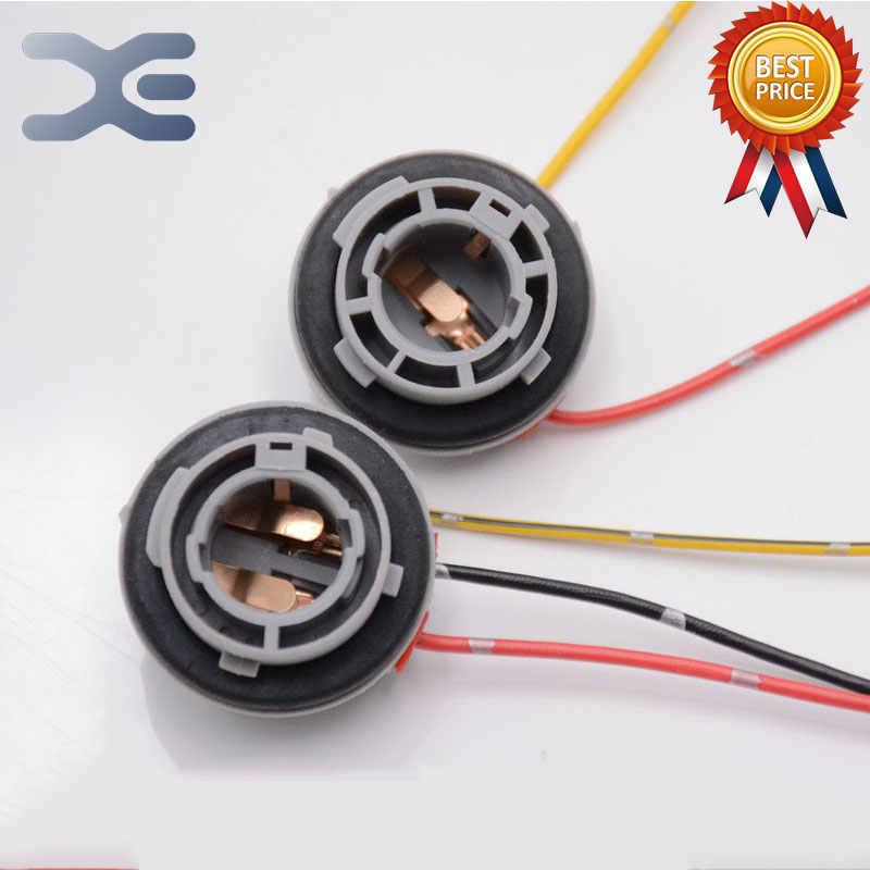 1Pcs Car Rear Lights Socket ke Lights Monofilament Double ... A Light Socket Wiring on