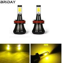 цена на 1 pair Newest H8 H11 Car led Fog Bulb Lamp 9005/HB3 9006/HB4 Led Fog Lights H27 880 881 12V Driving Light white golden blue