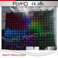 Free shipping SD Card controllor RGB Tri color LED Vision Curtain cloth