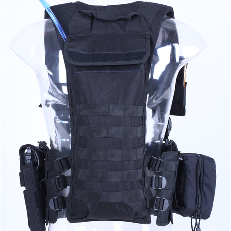 With Water Bag Military Training Tactical Vest Outdoor Climbing Hunting Camping Army Shooting CS Game Combat