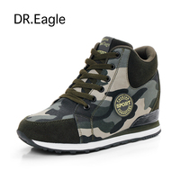 Running Shoes For Women Increased Slope With Camouflage Wedge Hidden Heel Sneakers Women Jogging Walking Shoes