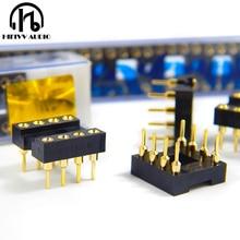 Hifivv audio hifi 8 pins DIP 8 IC socket op amp socket gold base Seat Import gold plating 10 pcs 8 pin feet IC chip socket