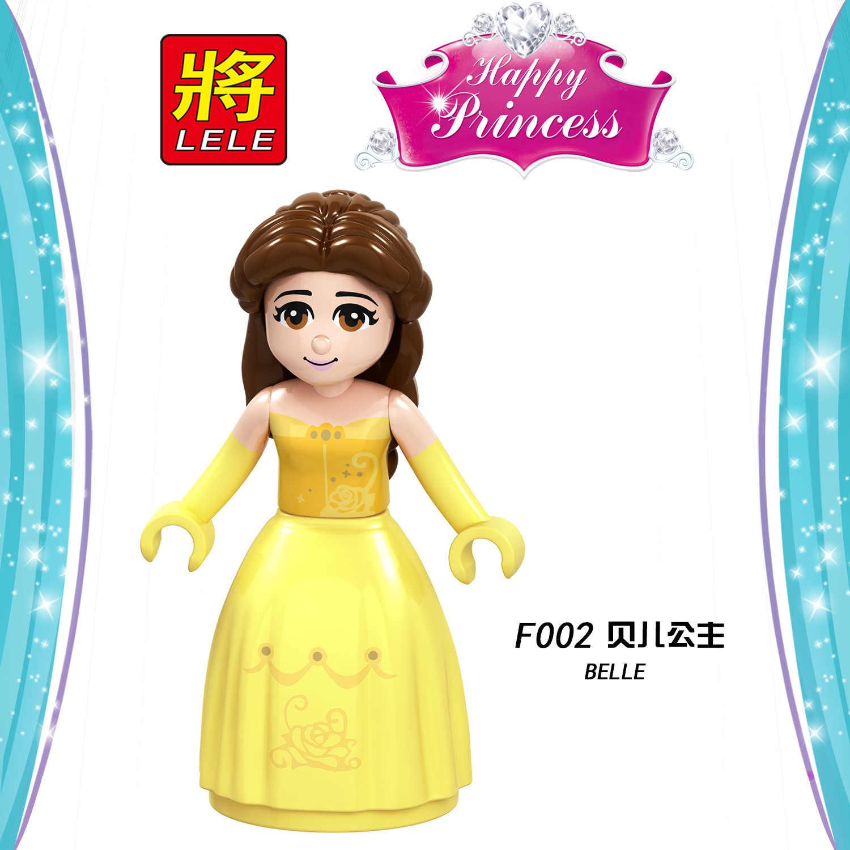 Блокирующие фигурки принцесс Белоснежка Белль Анна Эльза Золушка Набор строительных блоков DIY игрушки для детей Lockings Friends Figure