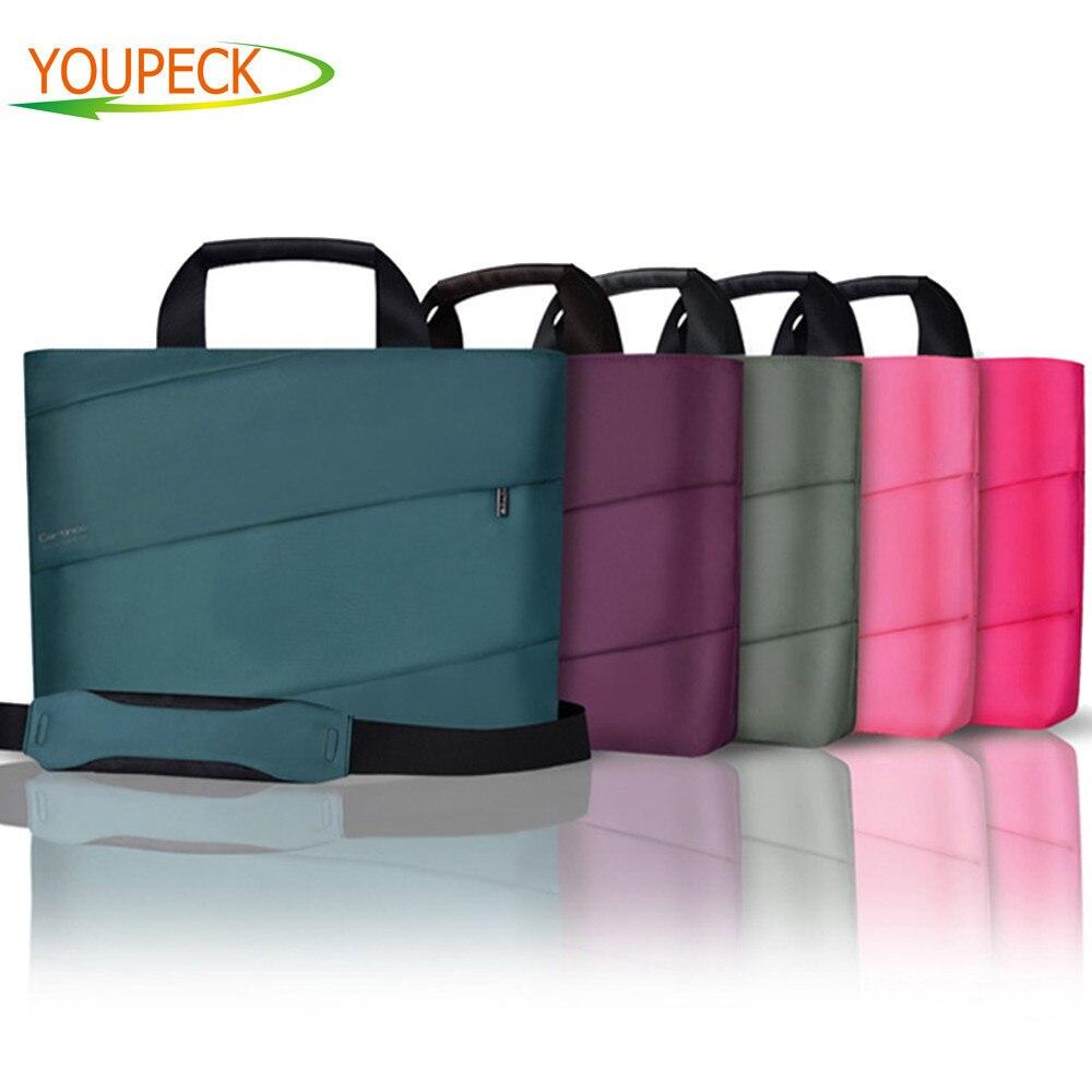 Sac fourre-tout pour ordinateur portable 14 15 pouces sac à bandoulière étanche sac à main pour hommes serviette pour femmes étui de transport sac à manches d'ordinateur 2018