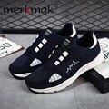 Merkmak Recién Hombres Zapatos Casuales Estaciones de Trenes Transpirable Zapatos de Moda Casual de Alta Calidad de Los Hombres Cómodos Del Deporte Zapatos Duraderos