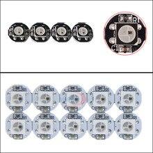 5~1000pcs LED Board Heatsink ws2812b chips With (10mm*3mm) WS2811 IC Built-in 5050 SMD RGB DC5V Black/White PCB
