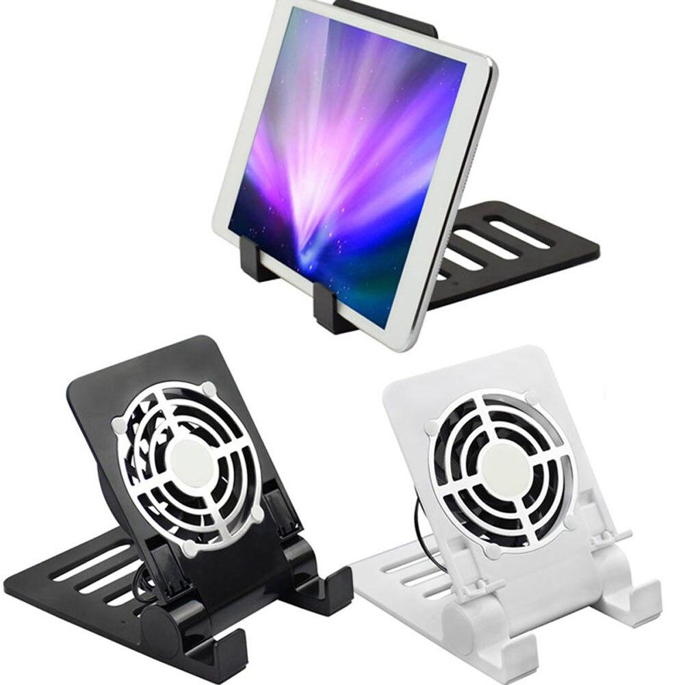 USB Desk <font><b>Phone</b></font> <font><b>Fan</b></font> Quiet Cooling Pad Radiator with Foldable Stand Holder <font><b>for</b></font> <font><b>iPhone</b></font> iPad Tablets Laptops Q99 DJA99