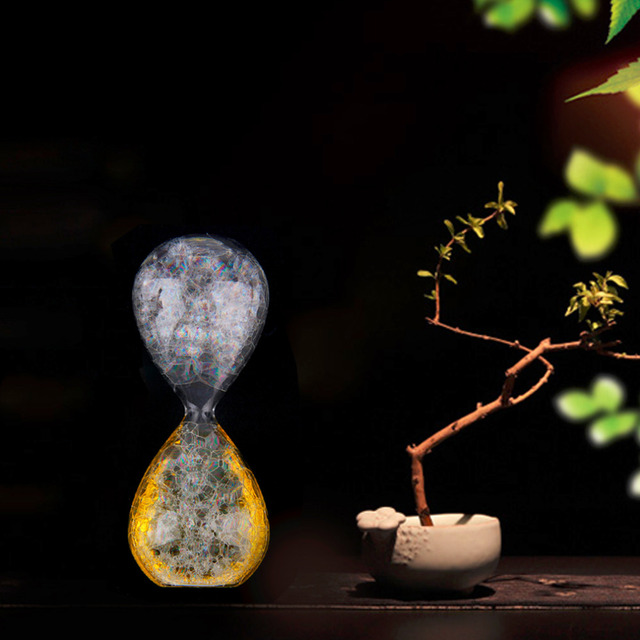 1Pc Small Transparent Bubble Sandglass Sand Clock Liquid Timer Decoration Gift
