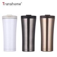 Transhome Çift Duvar Paslanmaz Çelik Kahve Kupa 500 ml Termos Bardak Yalıtım Çay Kahve Kupa Süt Araba Su Şişesi Thermocup fincan