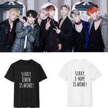 Kpop home BTS Bangtan Boys SUGA JUNGKOOK V The Same fashion Funny couple Summer Short Sleeve Tshirt