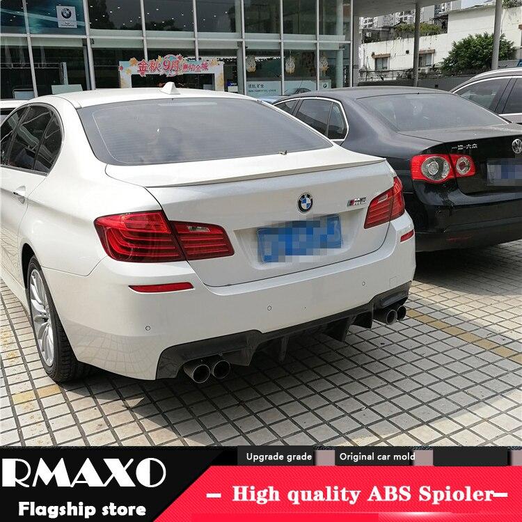 Para BMW M5 F10 F18 Spoiler 2012-2016, 520 525li 528li Material del ABS de la alta calidad alerón trasero de coche con imprimación de color Spoiler trasero