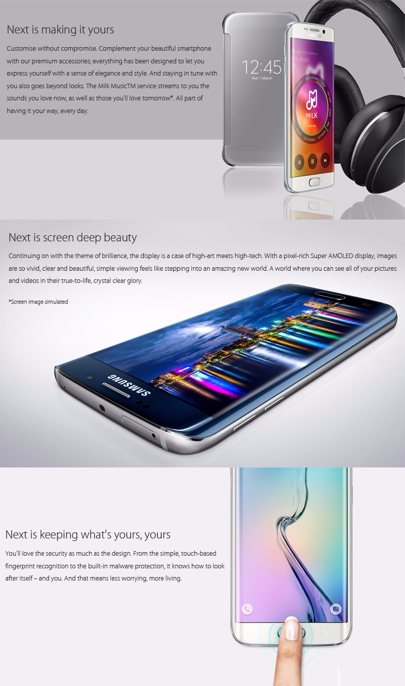 Original Samsung Galaxy S6 With 16.0MP And 3GB RAM Android Unlocked Cellphone 6