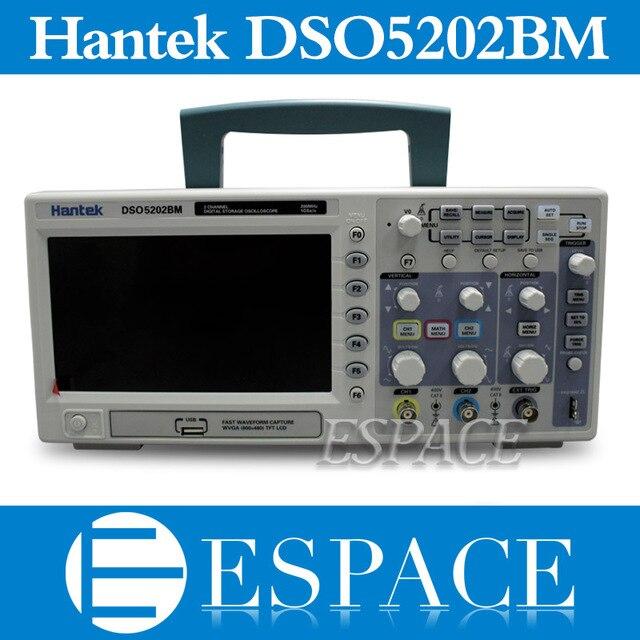 "New Hantek DSO5202BM Digital Storage Oscilloscope,2channels 200MHz 1GSa/s, 7"" Color Display, 2M Record Length"