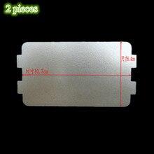2 шт./партия Микроволновая печь слюда плиты Microondas листы 6,4 см* 10,7 см