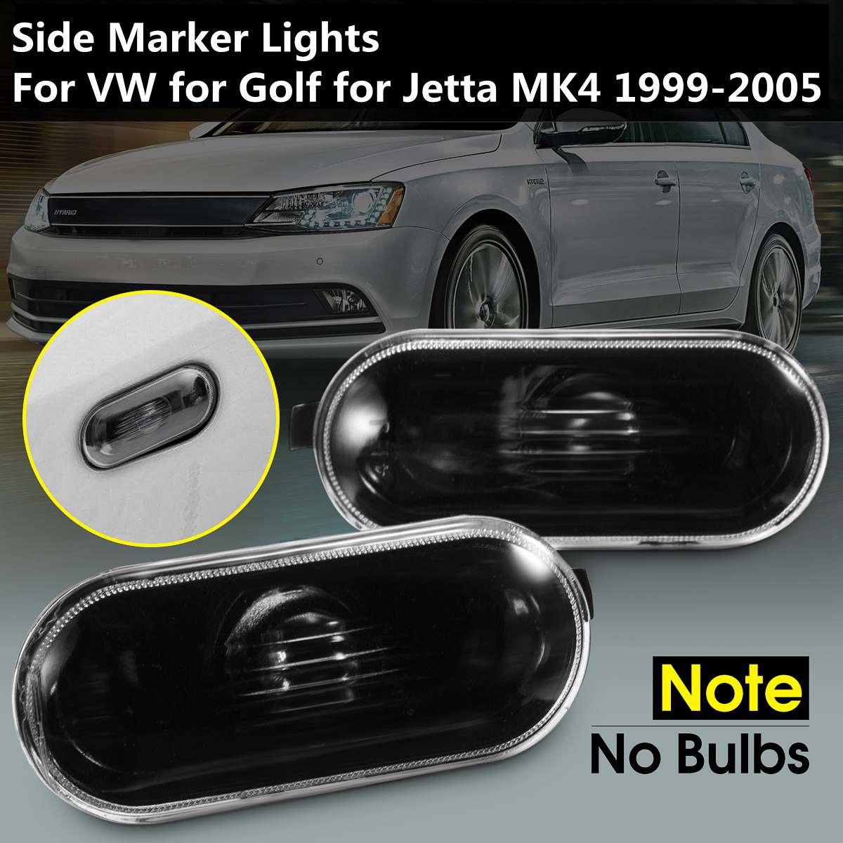 Pair Of Left Right New Black Side Marker Lights Lamp NO Bulbs For VW For Volkswagen Passat 1997-2004 Golf For Jetta MK4 1999-200