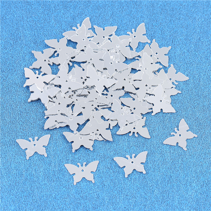 350pcs Butterfly Silver Wedding Confetti Table Decoration Scatter Sprinkles Birthday Party Decor Supplies