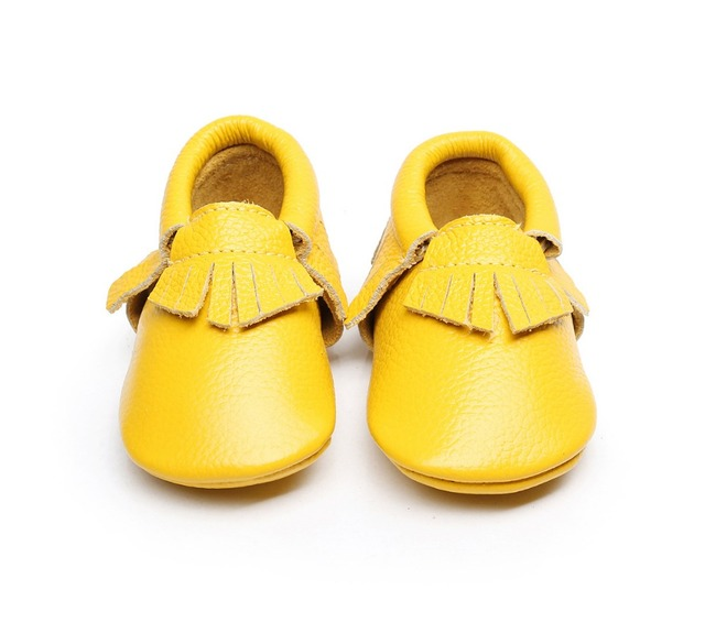 High quality New Genuine Leather 20 colors winter Baby Moccasins Infant Anti-slip Toddler outdoors soft Moccs Tassel Kids Shoes