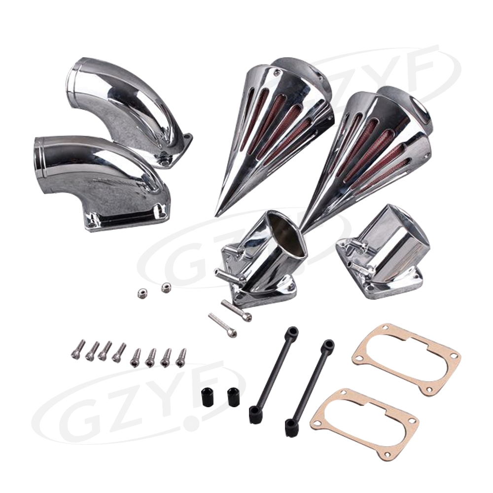 Spike Air Cleaner Filter Intake Kit For Suzuki M109R Boulevard 2006 2007 2008 2009 2010 2011 2012 Silver epman universal 3 aluminium air filter turbo intake intercooler piping cold pipe ep af1022 af