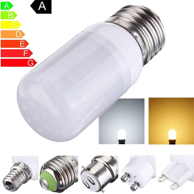 27 Led Light Bulb E27 3 5w 5730 Smd With Frosted Cover Pure White Spotlight Chandelier