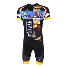 Anime One Piece Monkey D Luffy  Cycling Jersey Men Cycling Equipment Cycling Sets X068